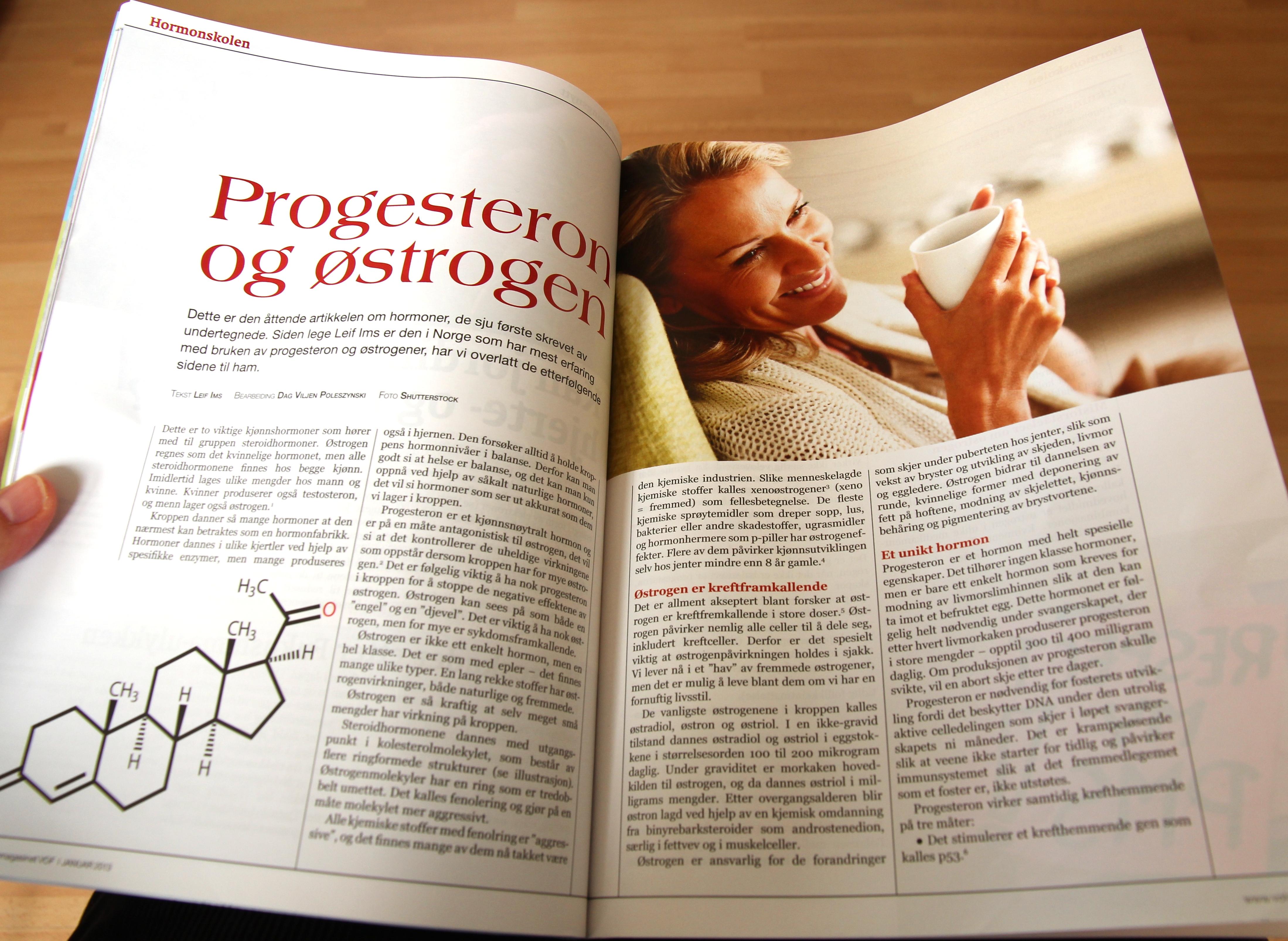 Østrogen og progesteron