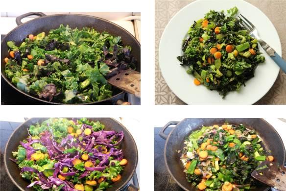 grønnsakswok rett fra åkeren