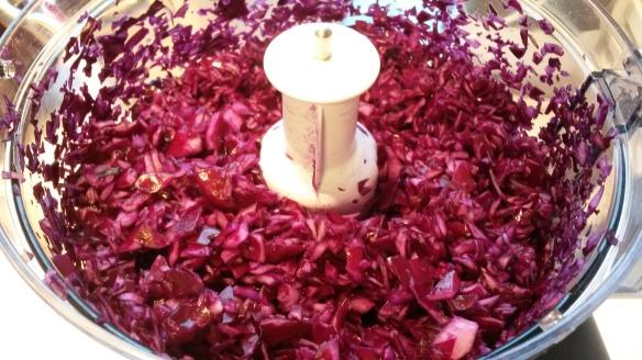 hakking av rødkål