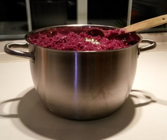 kokt rødkål